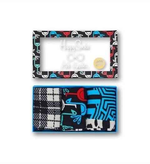 Giftbox (3-pak) Iris Apfel x Happy Socks XIR08-9050