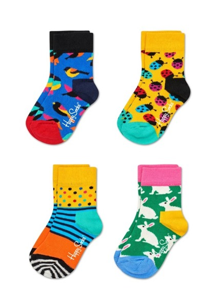 Giftbox (4-pak) skarpetki dziecięce Happy Socks XKID09-2000