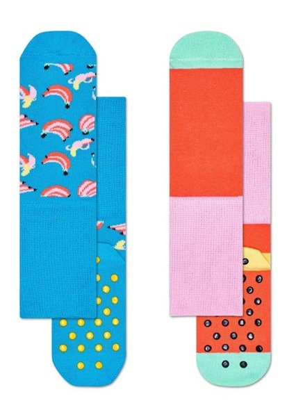 Skarpetki dziecięce antypoślizgowe (2-pak) Happy Socks KBAN19-6000