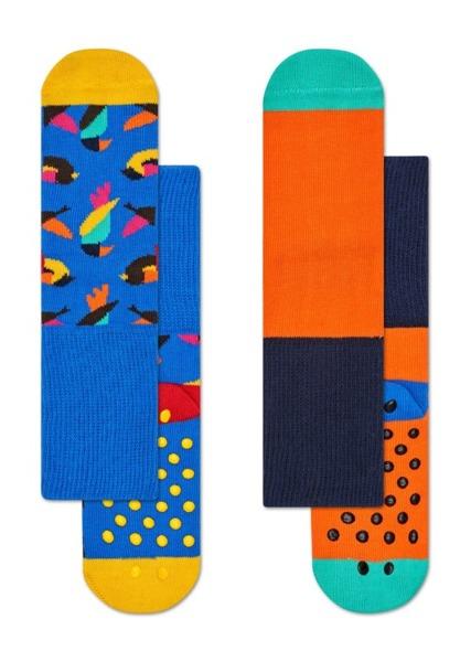Skarpetki dziecięce antypoślizgowe (2-pak) Happy Socks  KBIR19-6000