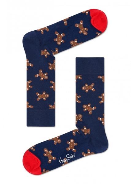 Skarpetki świąteczne Happy Socks Holiday Singles Gingerbread GIN01-6000